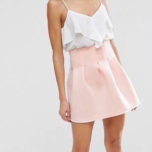 Light pink pleated skirt ASOS